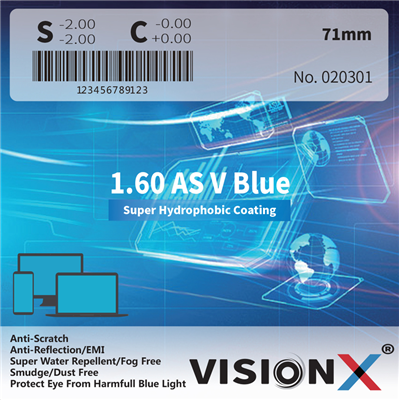 VisionX 1.60 AS V Blue  SHMC